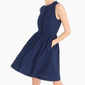 J. Crew Blue Eyelet Sleeveless Dress